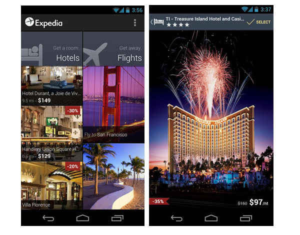 Expedia presenta su app móvil renovada para Android y iPhone