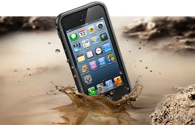 iPhone 5s y las carcasas impermeables LifeProof con ID Touch