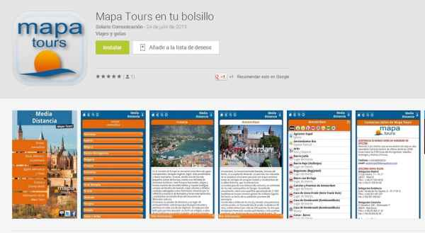 Mapa Tours lanza su app en Google Play y Apple Store