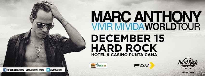 Marc Anthony trae su World Tour al Hard Rock Hotel Punta Cana