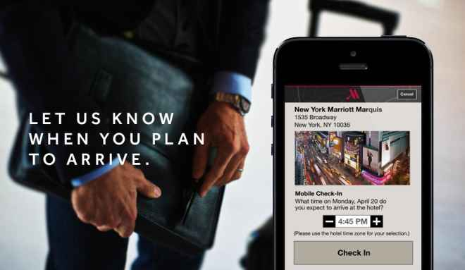 Marriott Hotels actualiza su App Mobile Checkout
