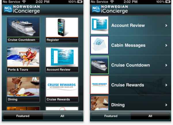 Norwegian Cruise Line presenta su app para iPhone y Android