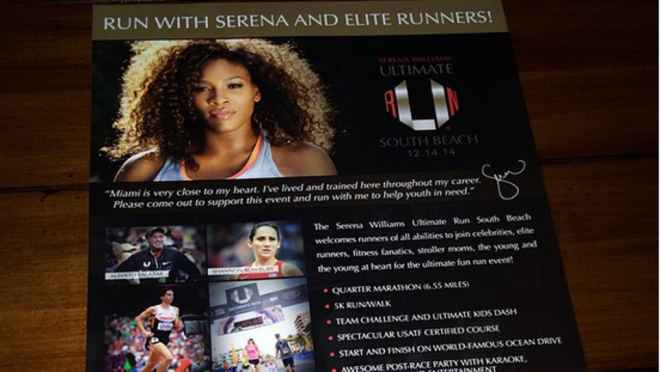 SERENA WILLIAMS presenta la Ultimate Run  Miami Beach