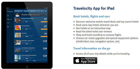 Travelocity actualiza su App iPhone Scan ®