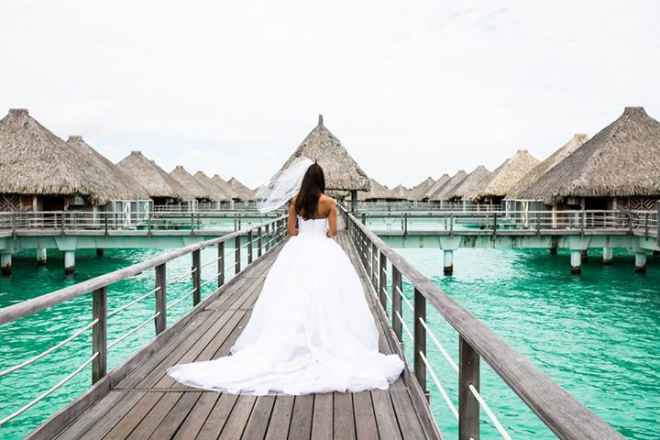 ¡Increíble video de boda en Bora Bora!