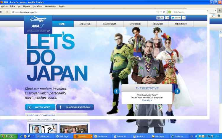 All Nippon Airways presenta la web
