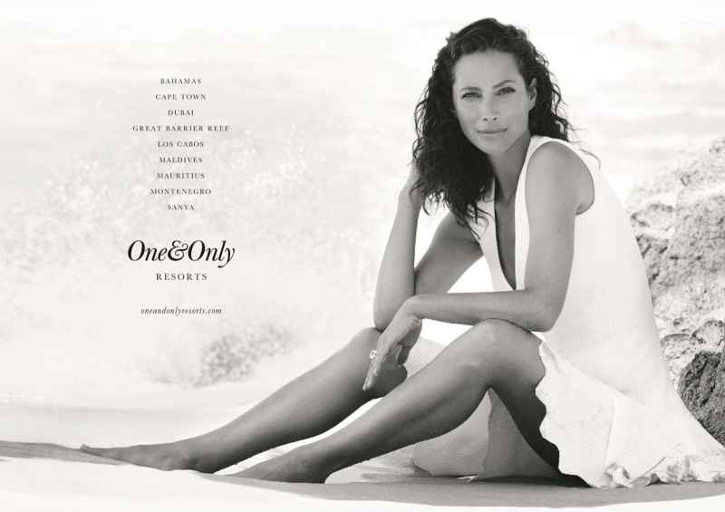 La supermodelo Christy Turlington nueva imagen de One & Only Resorts